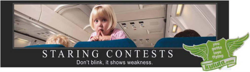 Kulula staring contests billboard