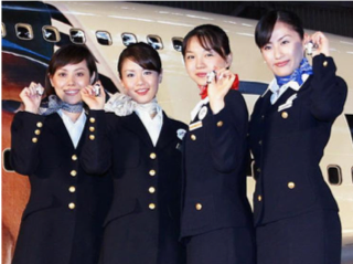 Image result for jal air hostess uniform sold during bankruptcy
